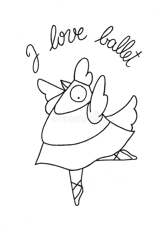 Gallina divertente illustrazione di stock