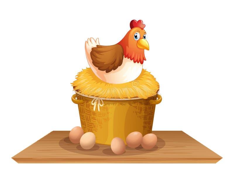 Gallina en jerarquía del pollo libre illustration