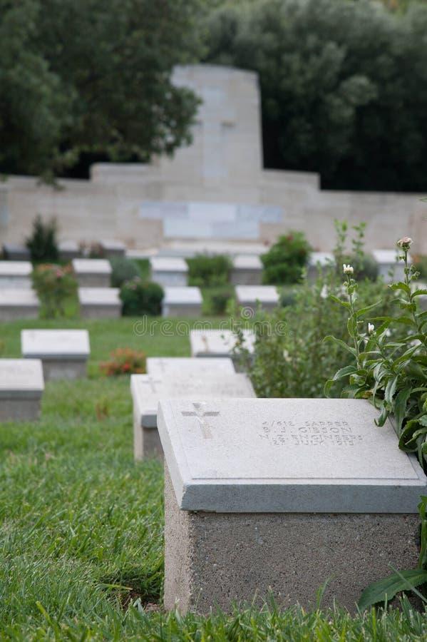 Gallipoli cmentarz obrazy royalty free