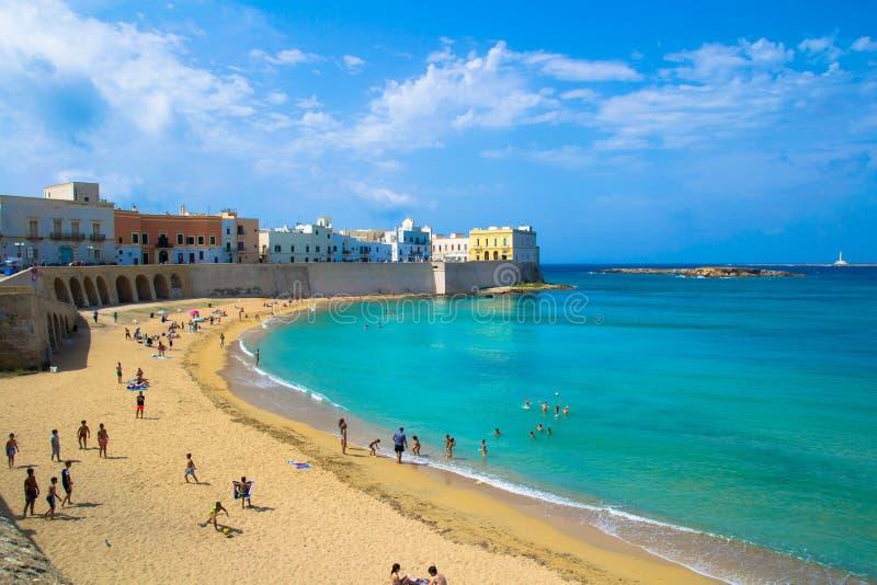 Gallipoli strand arkivfoto