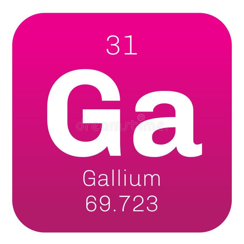 Gallium chemisch element vector illustratie