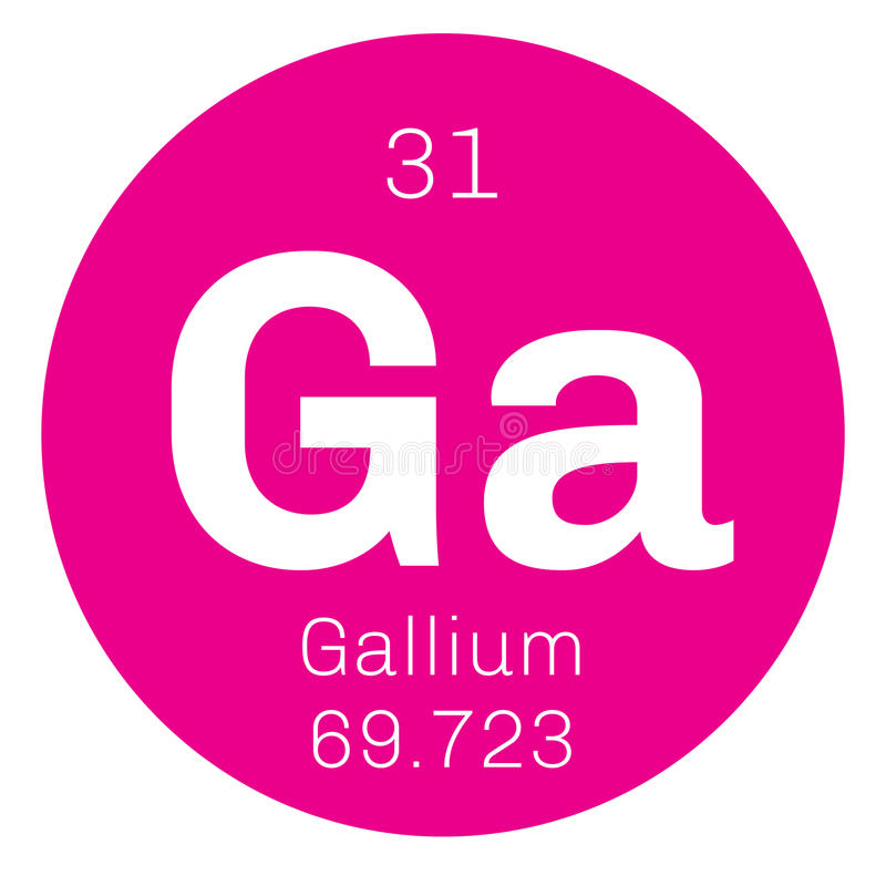 Gallium chemisch element royalty-vrije illustratie