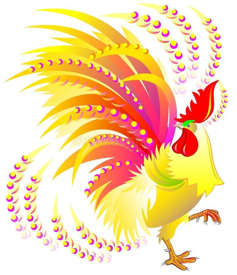 Gallo colorido Símbolo chino de las 2017 Felices Año Nuevo libre illustration