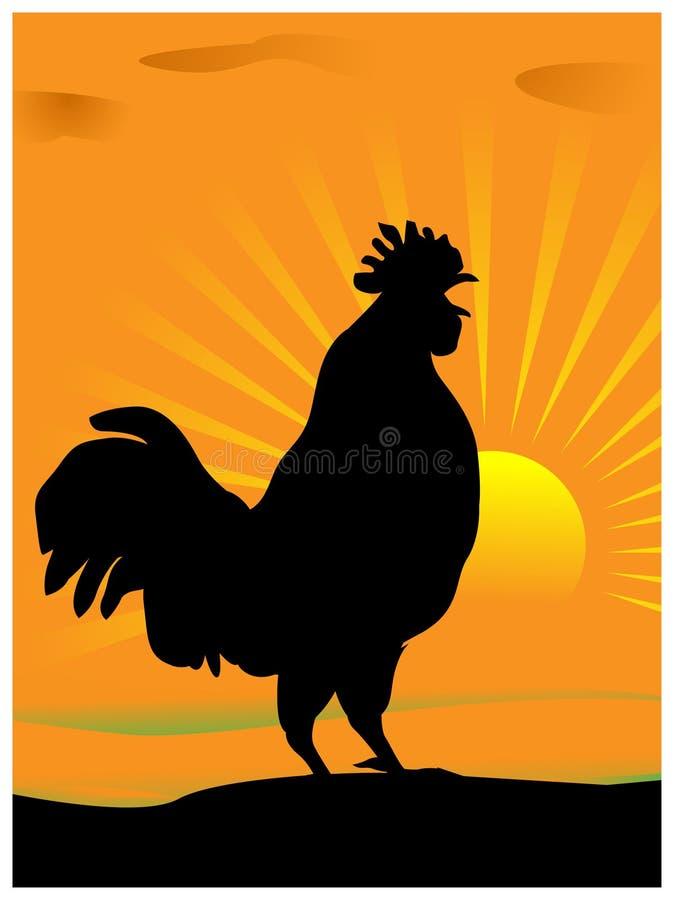 Gallo Creaking royalty illustrazione gratis