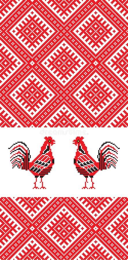 Gallo D del ricamo immagine stock