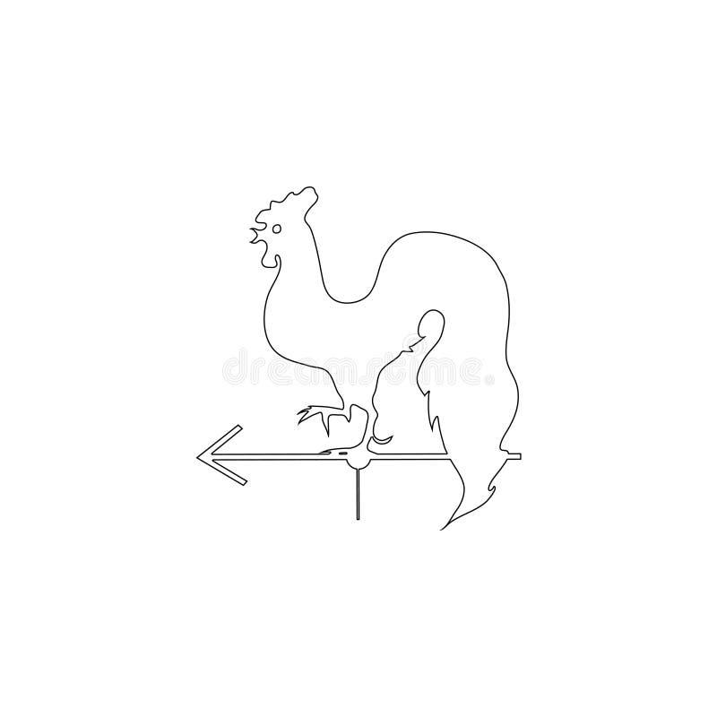 Gallo de la paleta de tiempo Icono plano del vector ilustración del vector