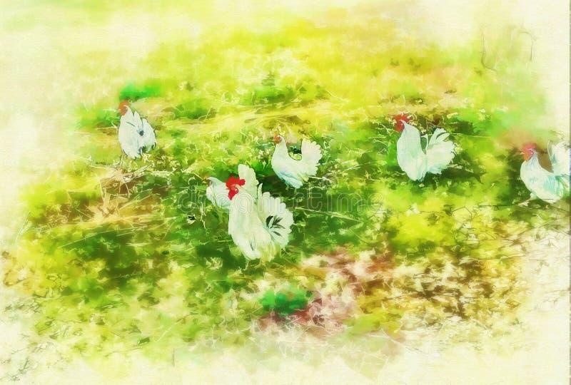 Gallo de la pintura de Digitaces libre illustration