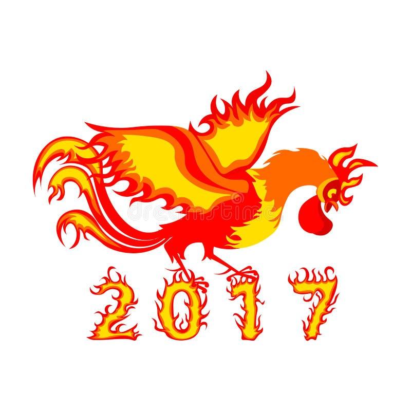 Gallo del gallo, un simbolo di 2017 sul calendario cinese immagine stock