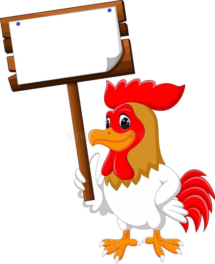 Gallo del pollo de la historieta ilustración del vector