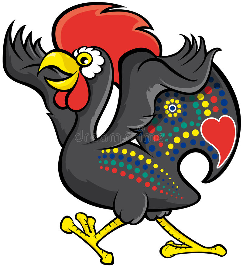 Gallo di Barcelos illustrazione vettoriale