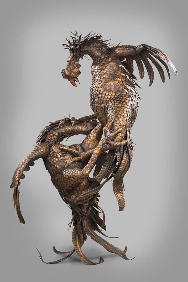 Gallo di combattimento immagine stock