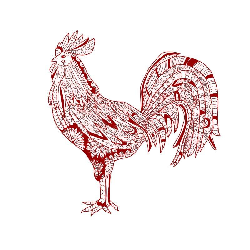 Gallo dibujado mano libre illustration