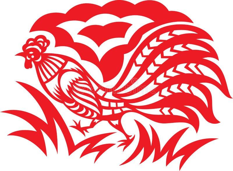 Gallo orientale royalty illustrazione gratis