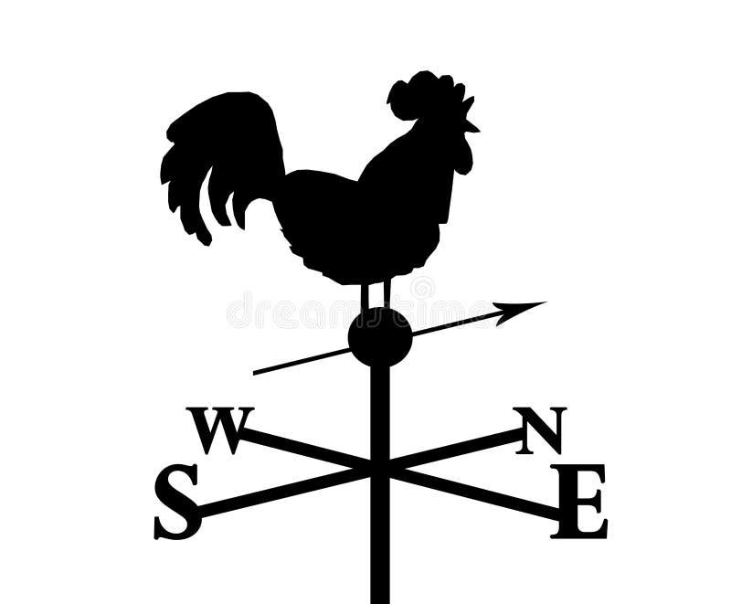 Gallo que señala al norte ilustración del vector