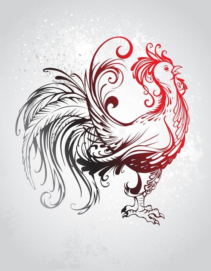 Gallo rojo libre illustration