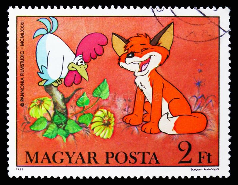Gallo, Vuk el serie del Fox Cub, circa 1982 ilustración del vector