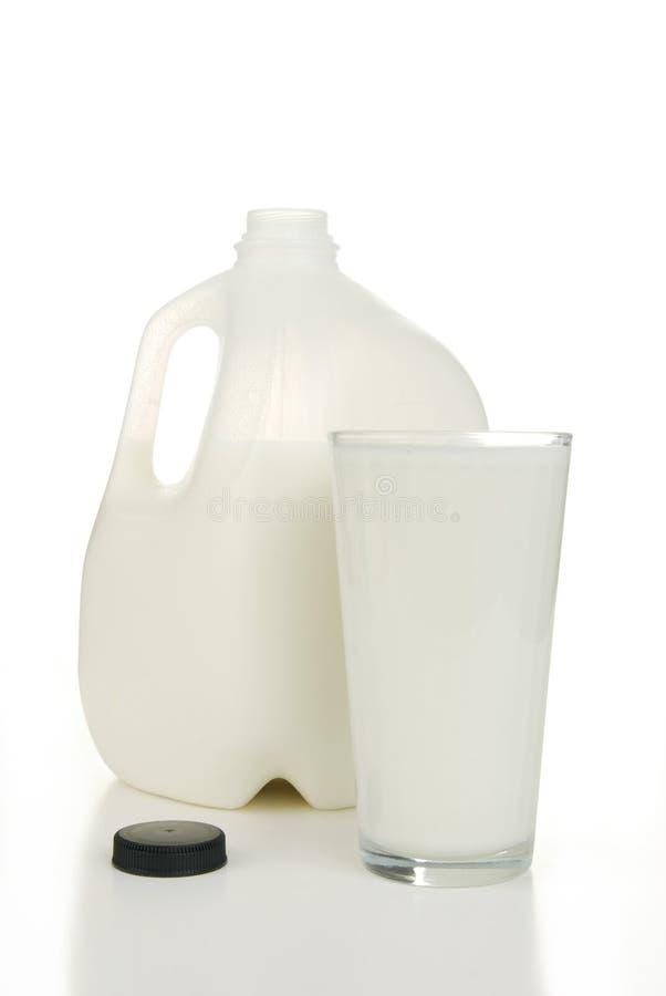 Gallon de lait photo stock