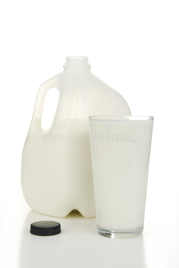 Gallon melk stock foto