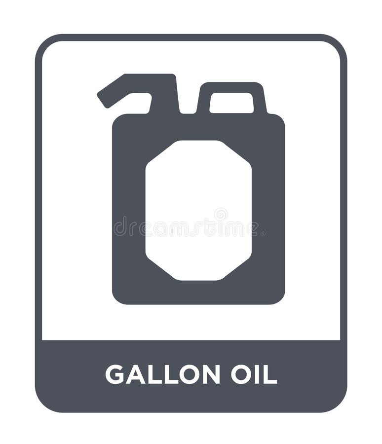 gallon oil icon in trendy design style. gallon oil icon isolated on white background. gallon oil vector icon simple and modern royalty free illustration