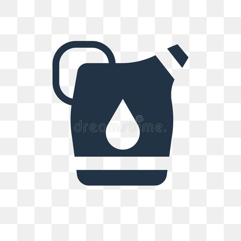 Gallon Oil vector icon isolated on transparent background, Gallo royalty free illustration