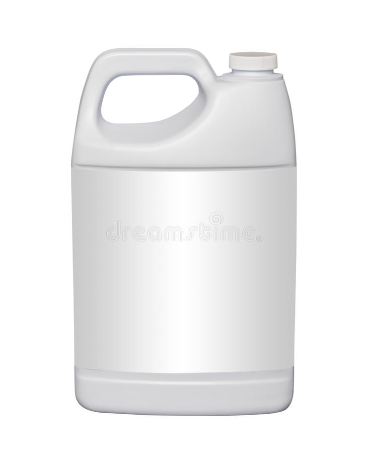 Gallon plastic jug, isolated stock image