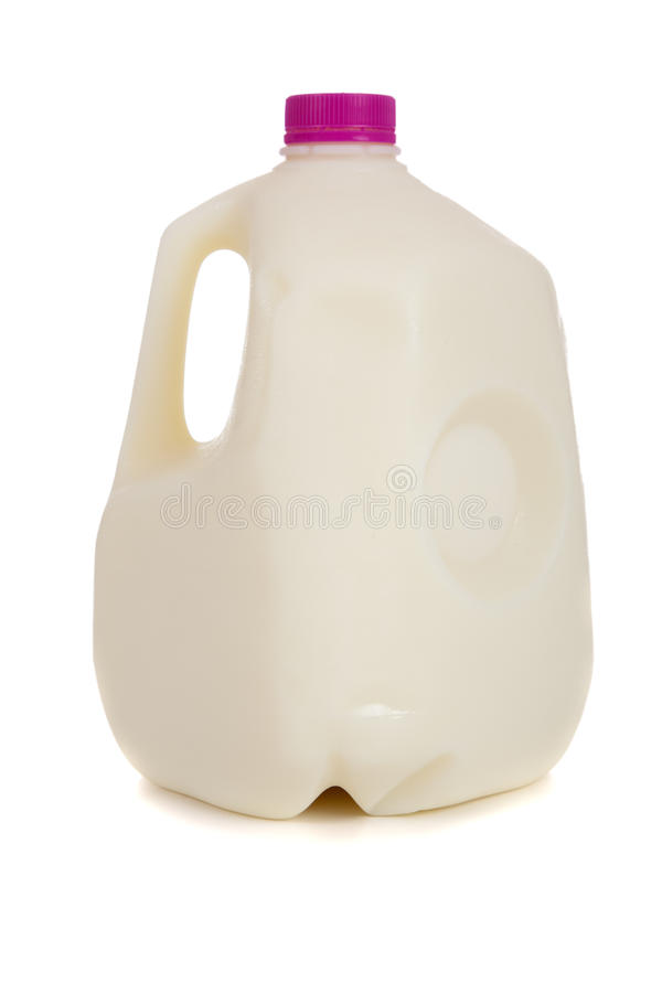 Gallone di latte immagini stock