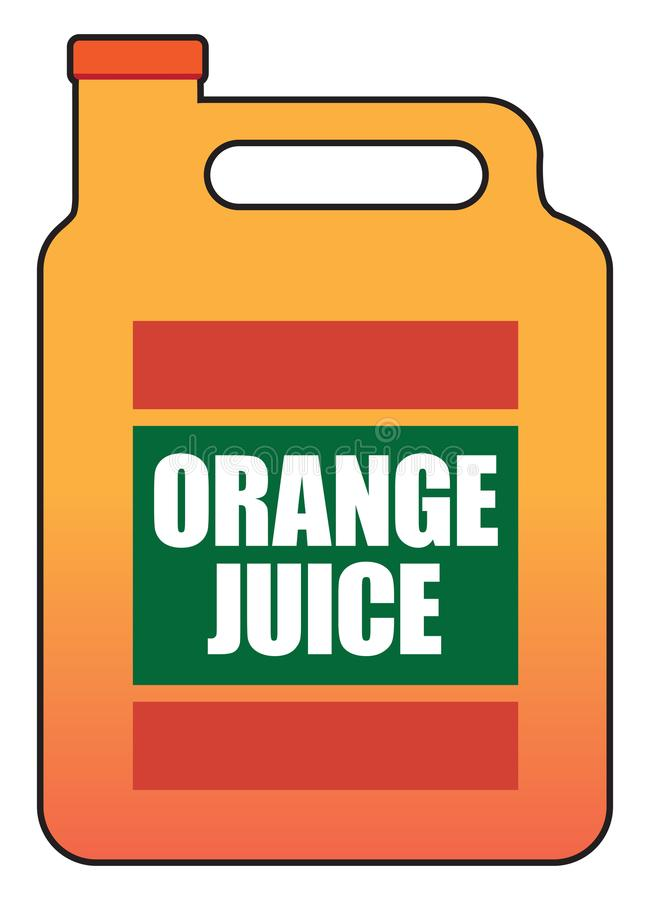Gallone di succo d'arancia royalty illustrazione gratis