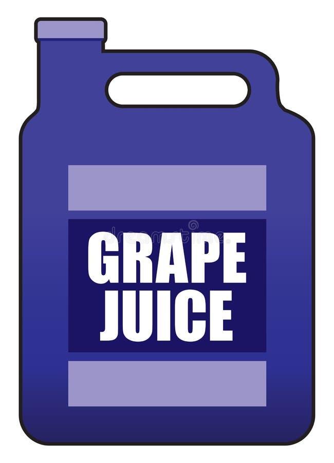 Gallone di succo d'uva royalty illustrazione gratis