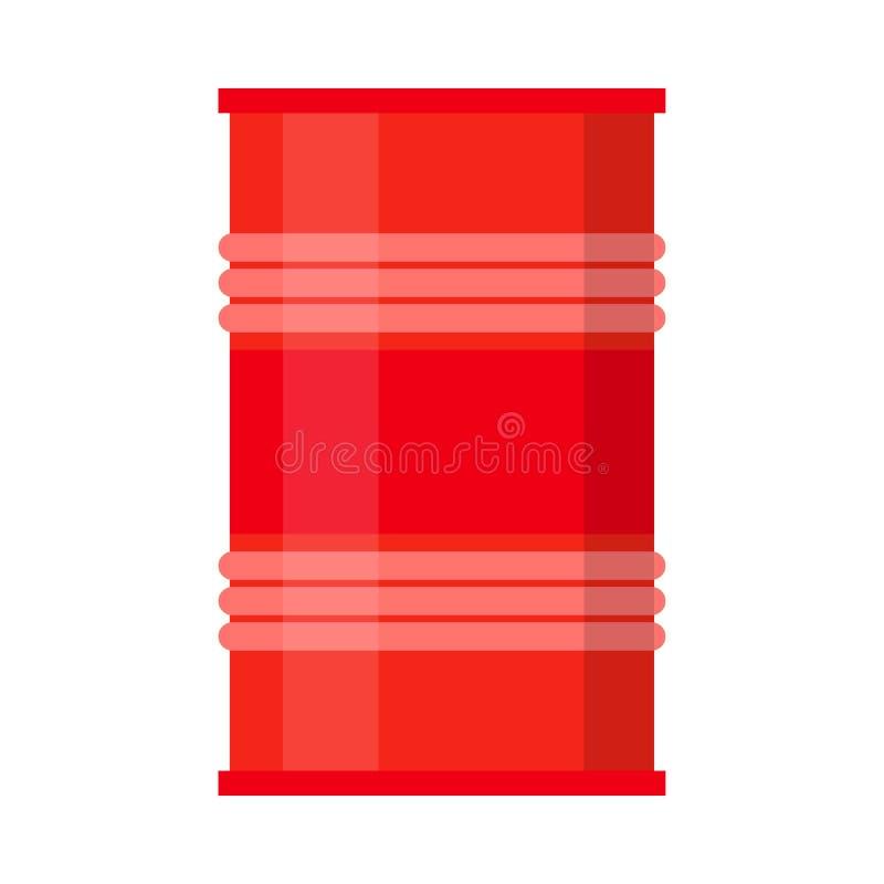 Gallone piano di simbolo dell'icona di inquinamento di industria del barilotto La fabbrica può bianco isolato illustrazione vettoriale