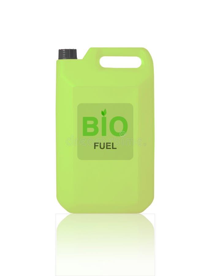 Gallone verde di bio- combustibile fotografie stock libere da diritti