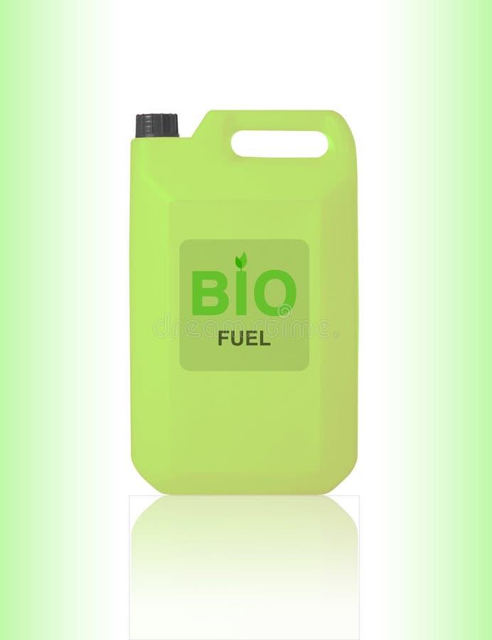 Gallone verde di bio- combustibile fotografie stock