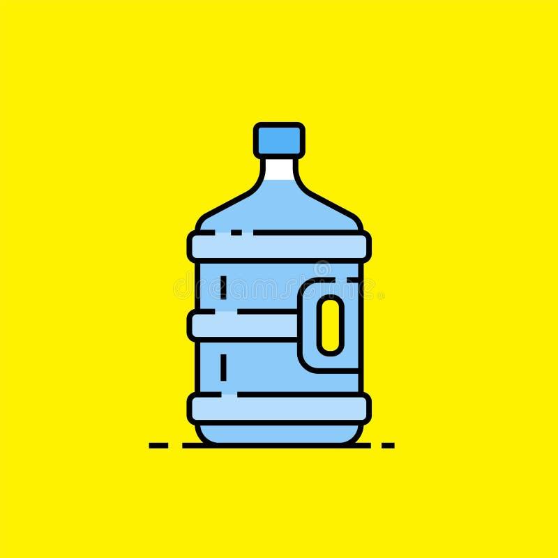 5-Gallonen-Wasserflaschenlinie Ikone vektor abbildung