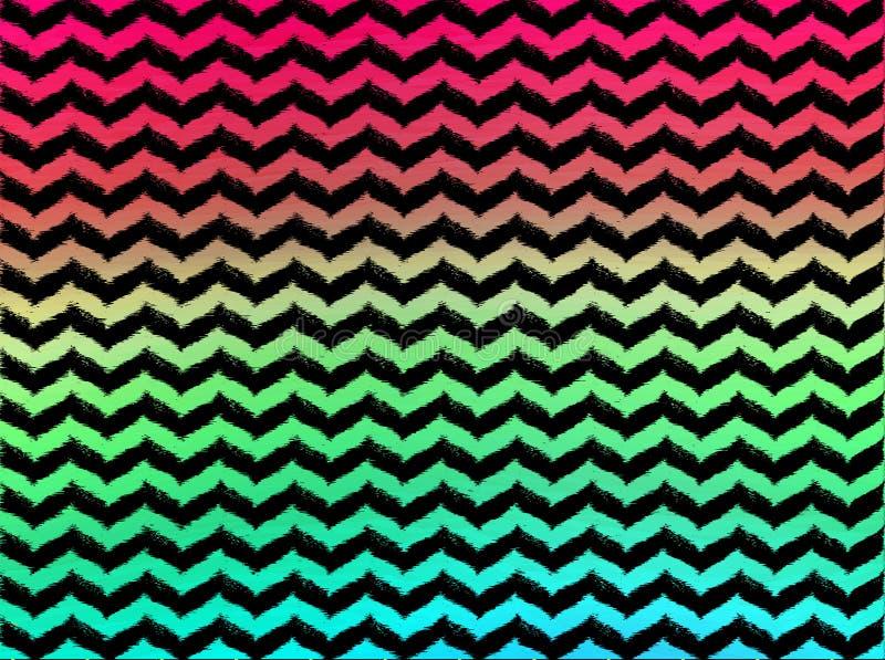 Galloni ondulati di Ombre su fondo nero fotografie stock