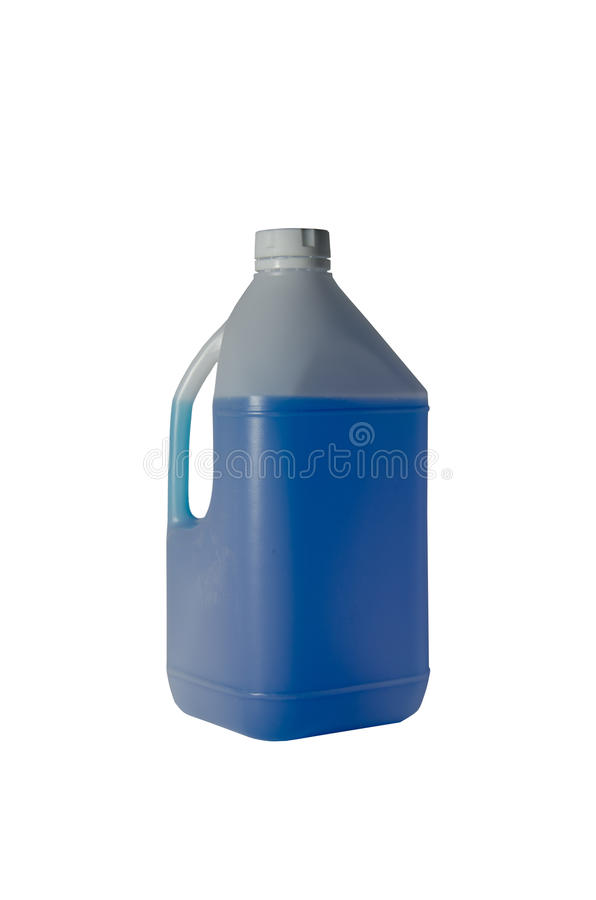 Gallons for liquid packaging. For example, milk, water and oil stock photos