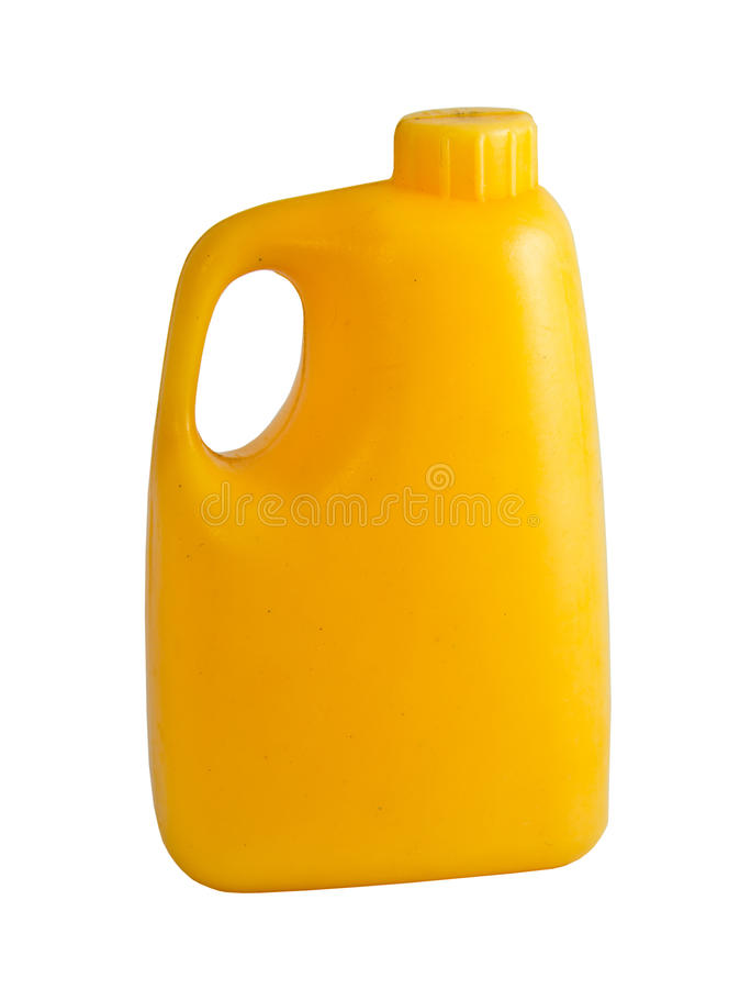Gallons of yellow. Gallon is containers for liquid milk, water, oil royalty free stock photo