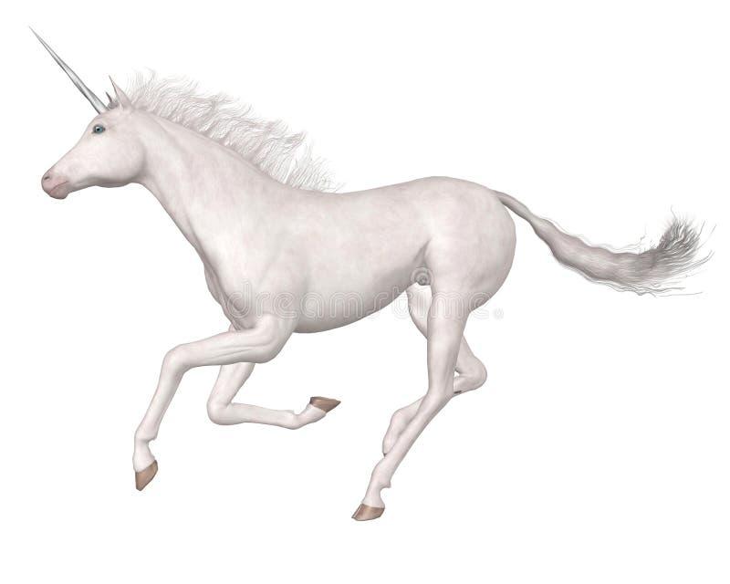 galloping волшебный единорог иллюстрация вектора