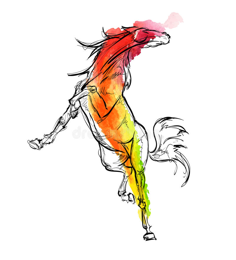 galloping лошади иллюстрация штока