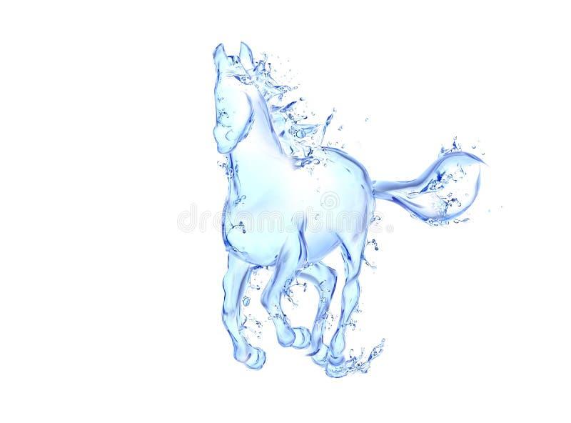 Galloping horse liquid artwork stock illustration