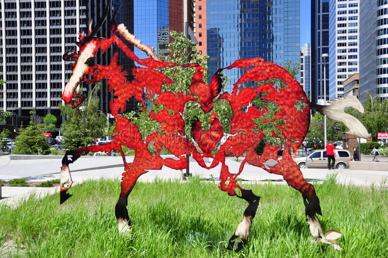 Galloping horses statue royalty free stock photos