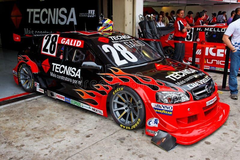 Gallor Fire Racing Stock Car Interlagos Brazil royalty free stock photography