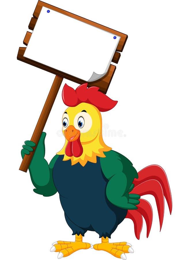 Galo da galinha dos desenhos animados ilustração stock