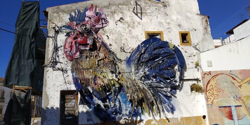 Galo de Barcelos, Beja, Portugal imagens de stock