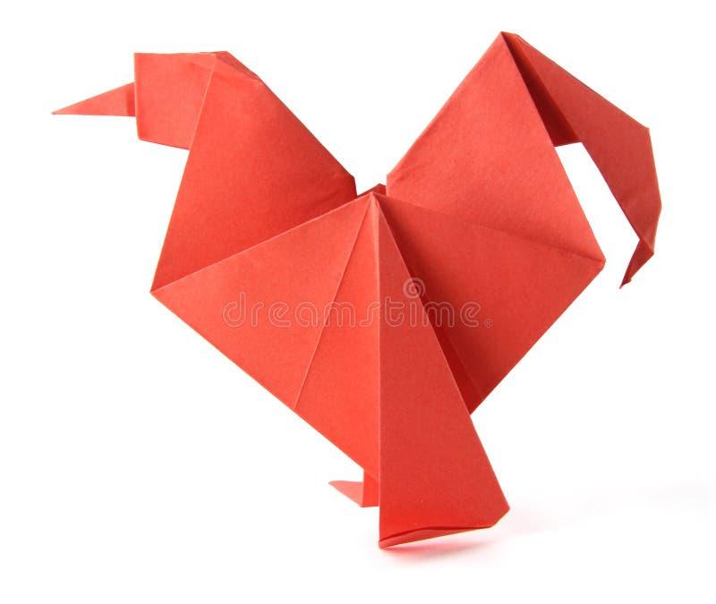 Galo de Origami imagem de stock royalty free