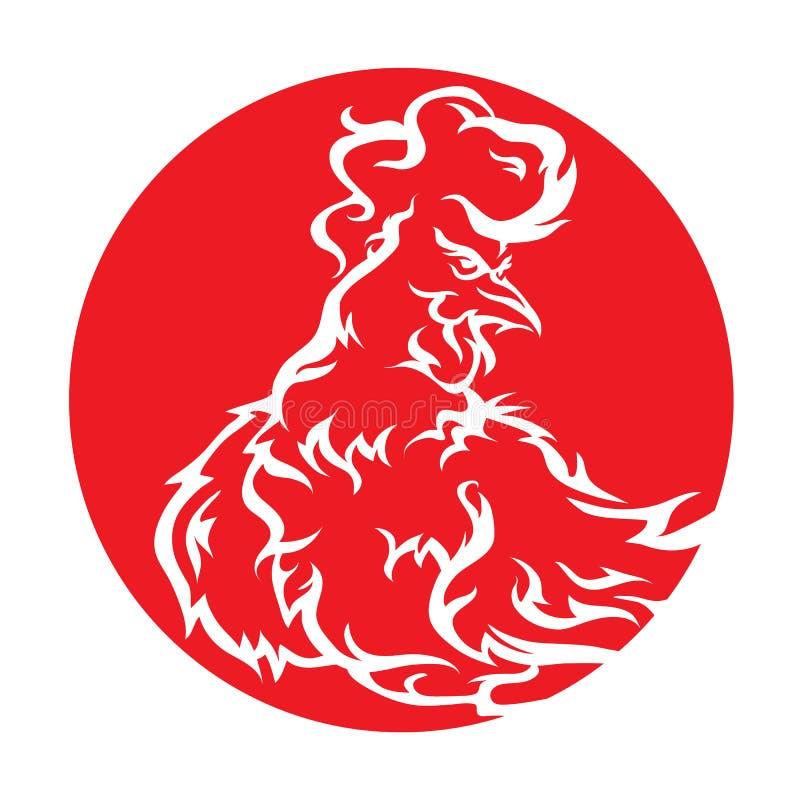 galo vermelho impetuoso 2017 ilustração do vetor