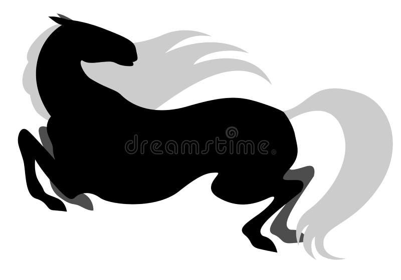 Galope del caballo ilustración del vector