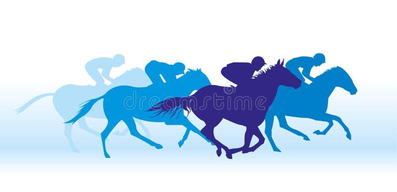 Galope en caballos stock de ilustración