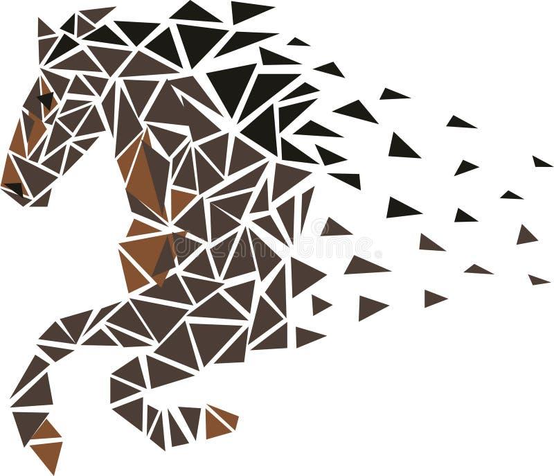 Galopperend Paard royalty-vrije illustratie
