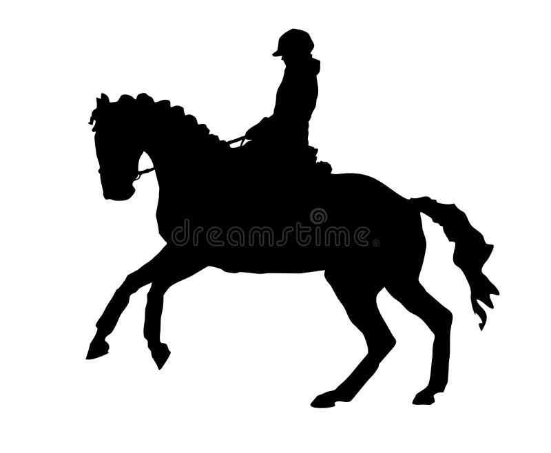 Galopująca Dressage konia sylwetka royalty ilustracja