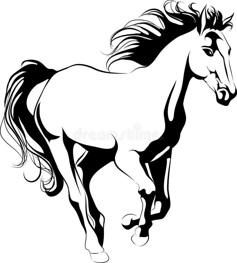 galopujący koń royalty ilustracja