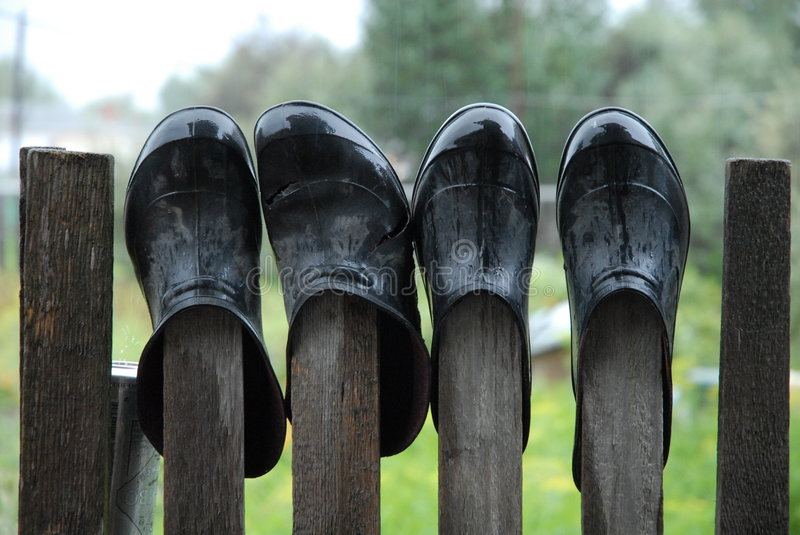 Galoshes royalty free stock photography